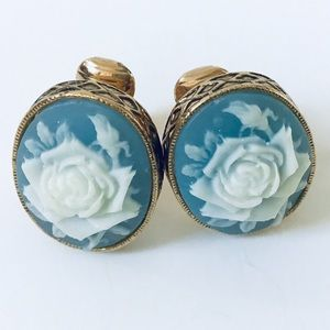 Avon Cameo Clip Earrings.